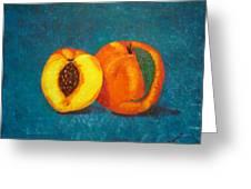 Peach And A Half Greeting Card