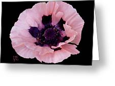 Peach Poppy - Cutout Greeting Card