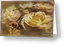 Peach Yellow Roses Greeting Card