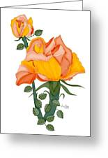 Peaches And Creme Greeting Card