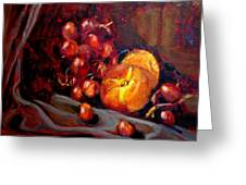 Peaches And Grapes Greeting Card