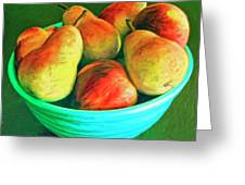 Peaches And Pears Greeting Card
