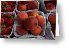 Peaches And Strawberries Greeting Card