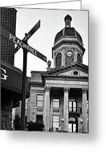 Peachtree And Central In Black And White Greeting Card