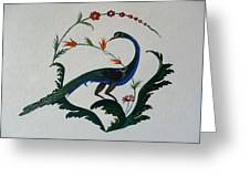 Peackok Greeting Card