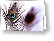 Peacock 8 - Doppleganger Greeting Card