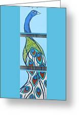 Peacock II Greeting Card