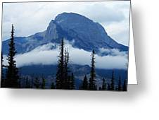 Peak Above The Clouds Greeting Card