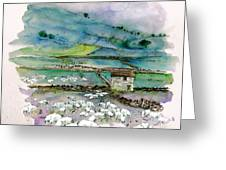 Peak District Uk Travel Sketch Greeting Card