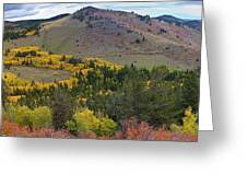 Peak To Peak Highway Boulder County Colorado Autumn View Greeting Card