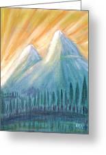Peaks At Sunrise Greeting Card
