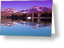 Peaks In The Mirror Greeting Card