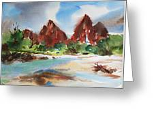 Peaks Of Zion Greeting Card