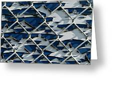 Pealing Paint Fence Abstract 1 Greeting Card