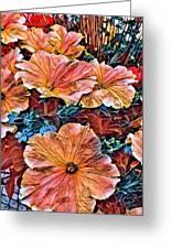 Peanies Flower Blossom Greeting Card