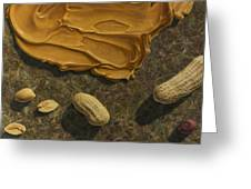 Peanut Butter And Peanuts Greeting Card