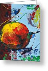 Pear And Sun Greeting Card