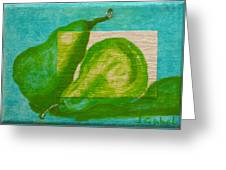 Pear Gem 2 Greeting Card