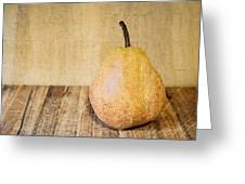 Pear On Cutting Board 2.0 Greeting Card