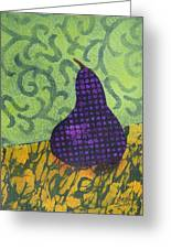 Pear Patterns Greeting Card