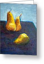 Pear Plus One Greeting Card