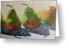 Pear Shadow Greeting Card