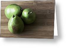 Pear Trio Muted Greeting Card