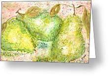 Pear Trio Greeting Card