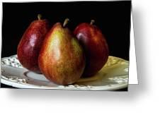 Pear Trio Still Life Greeting Card