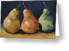 Pear Trio  Greeting Card
