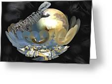 Pearl Egg Lizard Greeting Card