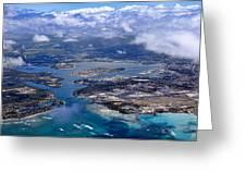 Pearl Harbor Aerial View Greeting Card