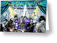 Pearly Gates Open Mic  Greeting Card