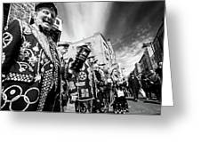Pearly Kings And Queens Of London Hoxton Brick Lane Greeting Card