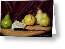 Pears And Cheese Greeting Card