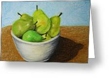 Pears In Bowl 2 Greeting Card