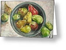 Pears In Bowl Greeting Card