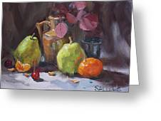 Pears With Eucalyptus Greeting Card