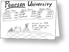 Pearson University Greeting Card