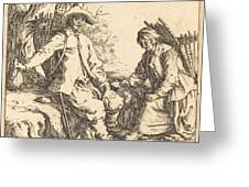 Peasant Couple At Rest Greeting Card