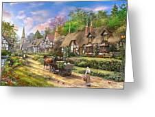 Peasant Village Life Greeting Card