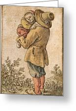 Peasant With Child Greeting Card