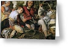 Peasants At The Market Greeting Card