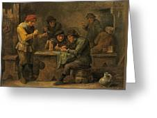 Peasants Playing Dice Greeting Card