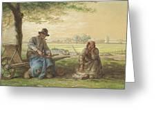 Peasants Resting Greeting Card