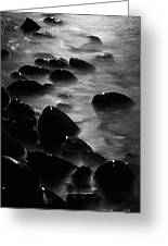 Pebble Beach By Moonlight Greeting Card