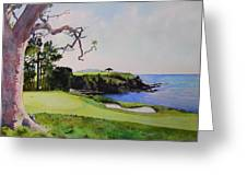 Pebble Beach Gc 5th Hole Greeting Card by Scott Mulholland