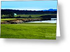Pebble Beach Golf Links No 18 Greeting Card by Lyle  Huisken