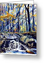 Pebble Creek Autumn Greeting Card