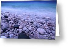 Pebble Shore Of Georgian Bay In Winter Greeting Card by Oleksiy Maksymenko